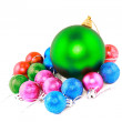 New Year decoration-balls. Isolated - Stock Photo