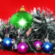 Royalty-Free Stock Photo: Christmas,  New Year decoration- balls, tinsel.