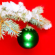 Royalty-Free Stock Photo: Balls with snow-covered fir branches.
