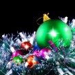 New Year decoration-balls,tinsel. - Stockfoto