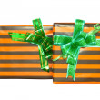 Heap of Christmas,New Year colour gift boxes. - Stockfoto
