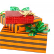 Heap of Christmas,New Year colour gift boxes. — Stock Photo #6513860