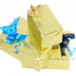 Royalty-Free Stock Photo: Heap of Christmas,New Year colour gift boxes.