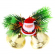 Christmas,New Year decoration-balls, green tinsel — Stock Photo #6514010