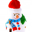 New Year decoration- snowman. Isolated. — Stock Photo