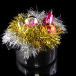 Stock Photo: Funny Christmas,New Year-tinsel in saucepan
