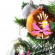 Fragment of Christmas and New Year decoration. - Foto de Stock