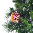 Fragment of Christmas and New Year decoration. — Foto de Stock