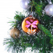Fragment of Christmas and New Year decoration. - Stok fotoğraf