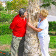 Elderly couple playfully looks at each other. — Stock Photo #6514160