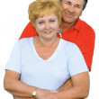 Elderly couple embrace each other . — Stock Photo #6514161