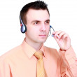 Man- operator call-centre on white background. — Stock Photo #6514209