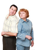Old couple, pensioners. Isolated. — Stock Photo