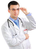 Portrait of medical doctor with phonendoscope. — Stock Photo