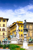 Neptun fontain, Florence, Italy — Stock Photo