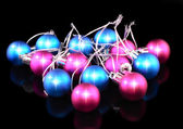 Christmas and New Year decoration-coloured balls. — Stock Photo
