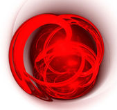 Abstract art red heart. — Stock Photo