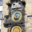 Astronomical clock on Staromestska Square, Prague - Stock Photo