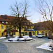 Early spring in small village in Germany — Stock Photo