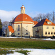 Early spring in small village in Germany - Stockfoto