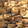 Stock Photo: Firewood combined in a woodpile