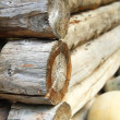 Stock Photo: Firewood combined in woodpile