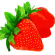 Three fresh strawberries. — Stock Photo #6595751