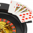 Spin casino roulette, dice,playing cards. Isolated — Stock Photo #6595759