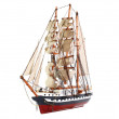 Model of sailing frigate. Isolated. — Stock Photo #6595812