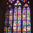 Stained-glass window in Catholic temple. — Stock Photo #6595870