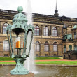 Lantern in Zwinger Palace  in Dresden. — Stock Photo