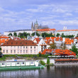 Old Town. View from Charles Bridge. Prague. - Foto de Stock  