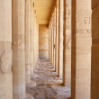 Pillars in Hatshepsut Temple at Luxor. - Stock Photo