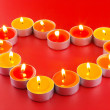 Small light candles, in heart form . — Stock Photo #6596214