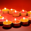 Small light candles, in heart form . — Stock Photo #6596215