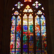 Stained-glass window in Catholic temple. — Stock Photo #6596218