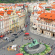 Staromestska's Square.View from Tower's top.Prague — Stock Photo
