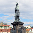 Statue on Charle's bridge. Prague, - Stock Photo