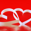 St. Valentine Day. Two hearts - Stock Photo