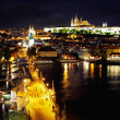 Night Prague,old Prague Castle. — Stock Photo
