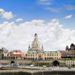 Dresden panorama from Elbe bridge. - Photo
