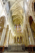 Cathedral of st. Vitus,Vaclav Indoor. Prague — Stock Photo