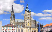 Cathedral of st. Vitta, Vaclav and Voiteha — Stock Photo