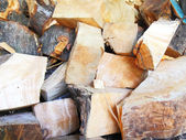 Firewood combined in a woodpile — Stock Photo