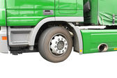 Big green truck. Isolated over white. — Stock Photo
