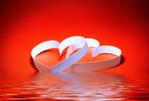 Dia de São Valentim. dois corações — Fotografia Stock