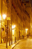 Night Street in Old Town in Prague Castle area. — Stock Photo