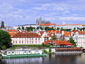 Old Town. View from Charles Bridge. Prague. — Stock Photo
