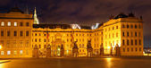 Night Square in Old Town in Prague Castle — Stock Photo