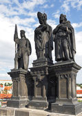 Statue on Charle's bridge. Prague, — Stock Photo